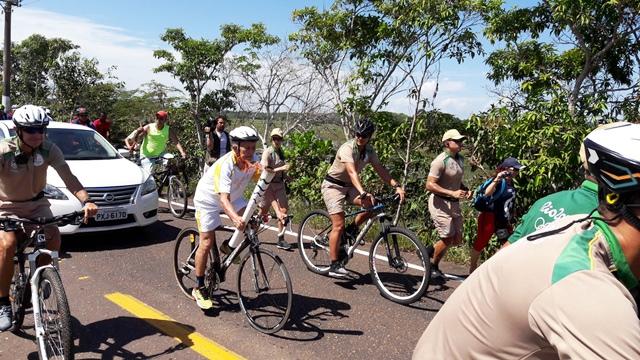 Cebinho conduz a Tocha: percurso revitalizado