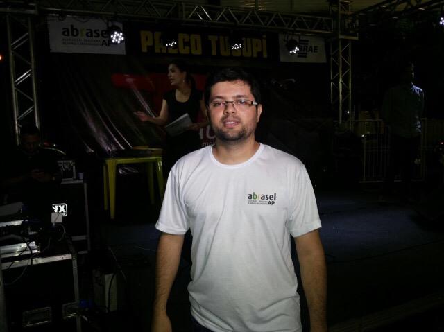 Sandro Bello, da organização do festival: Fotos. André Silva