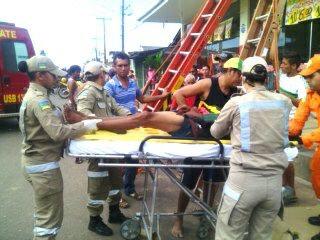 Homem foi resgatado em estado grave. Fotos: Olho de Boto