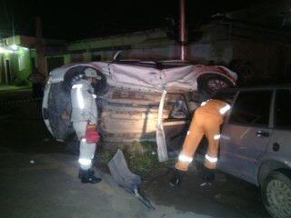 Samu e Corpo de Bombeiros fizeram o resgate das vítimas