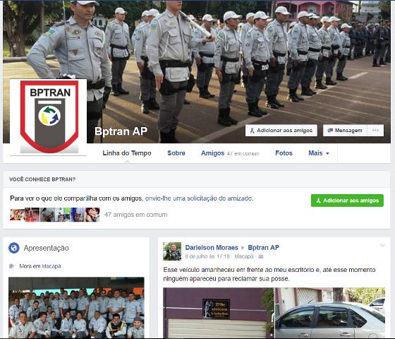 Perfil do Batalhão no Facebook alerta para brincadeiras na rua