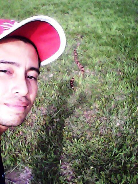 Estudante ainda teve tempo de fazer uma selfie