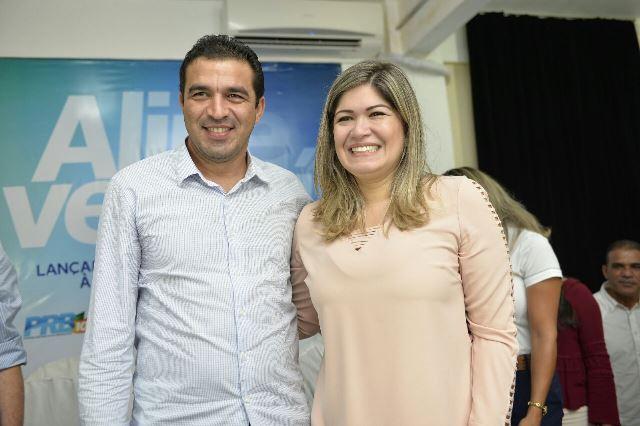 Aline Gurgel recebeu o apoio do deputado federal André Abdon