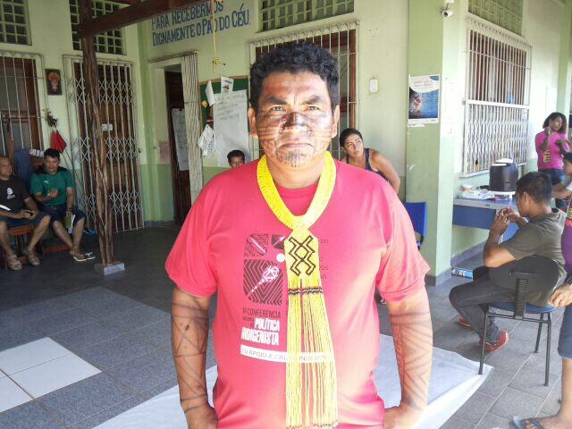 """Gilberto Iaparrá: """"Índios de todo Brasil estarão se mobilizando e manifestando seu descontento com a forma de cuidar do povo indígena"""". Fotos: André Silva"""