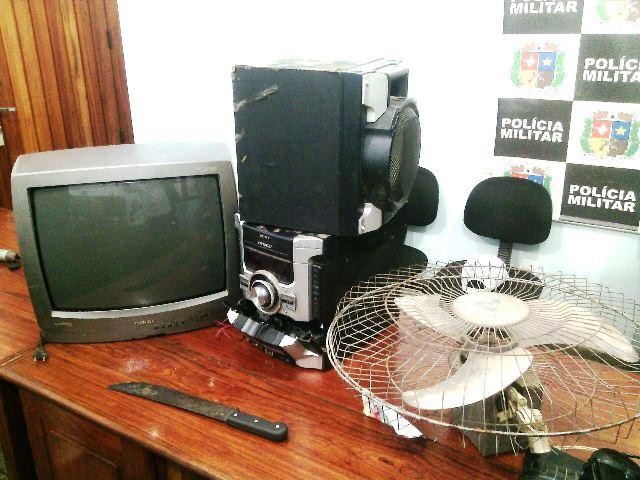 Outros objetos furtados foram encontrados em uma casa apontada pelo acusado. Fotos: Olho de Boto