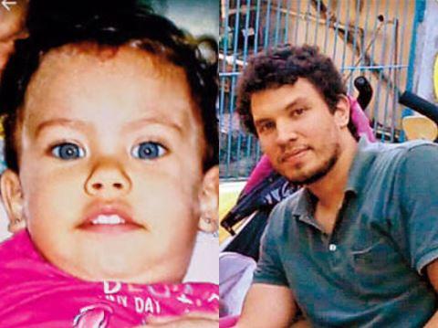 Júlia foi raptada pelo pai no dia 10 de julho. Foto: Folha de Pernambuco