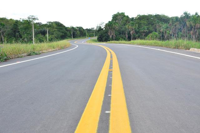 Foram asfaltados e sinalizados 27 quilômetros. Fotos: Erich Macias