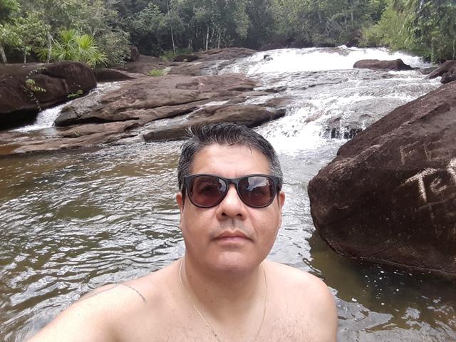 Tradicional selfie: isso é Amazônia