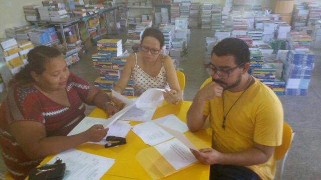 Comissão avaliadora da escola Mario Quirino. Fotos: Manoel do Vale