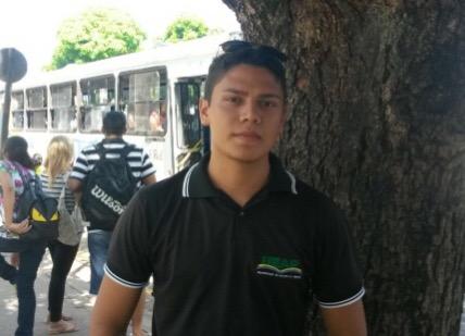 "Alexandre Silva, estudante da Ueap: """