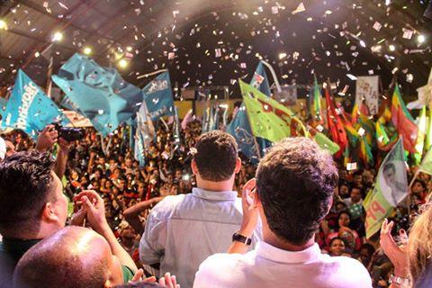 Senador Davi (DEM) discursa na convenção que lançou Clécio Luis
