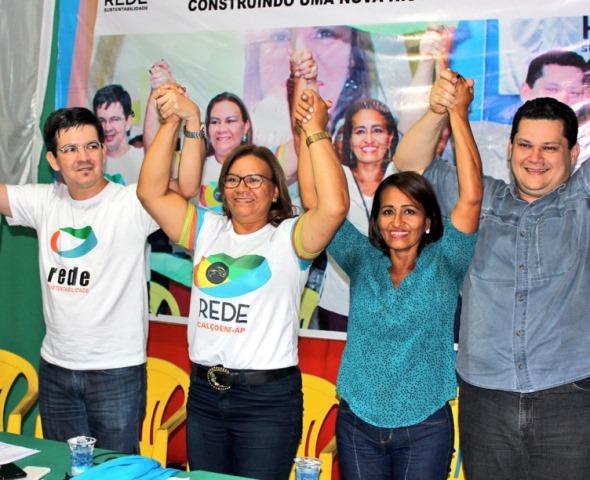 Em Calçoene, os senadores participaram da convenção que lançou Ângela e Neli. Fotos: Raphaela Carrera