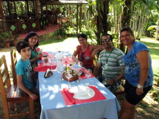 Retorno com almoço perfeito na Pousada Paraíso