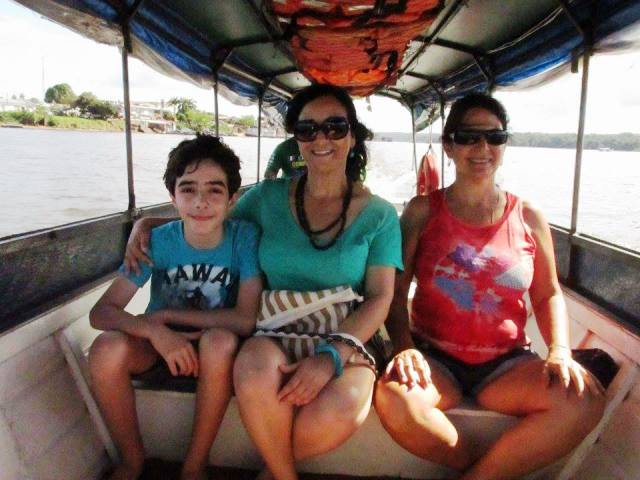 Davi, Maria Cristina e a amiga: acima da expectativa. Fotos: Marcelo Sá