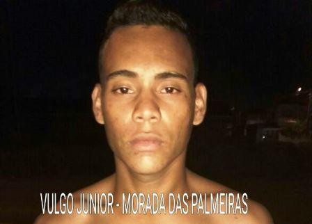 'Júnior' estava com mandado de prisão decretado. Foto:: Arquivo policial