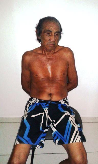 Raimundo Teixeira preso na delegacia de Porto Grande: fugiu ao ser flagrado pela avó da criança