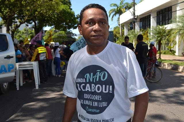 Aroldo Rabelo, atual presidente do Sinsepeap. Ele não pretende concorrer novamente. Foto: arquivo/SELESNAFES.COM