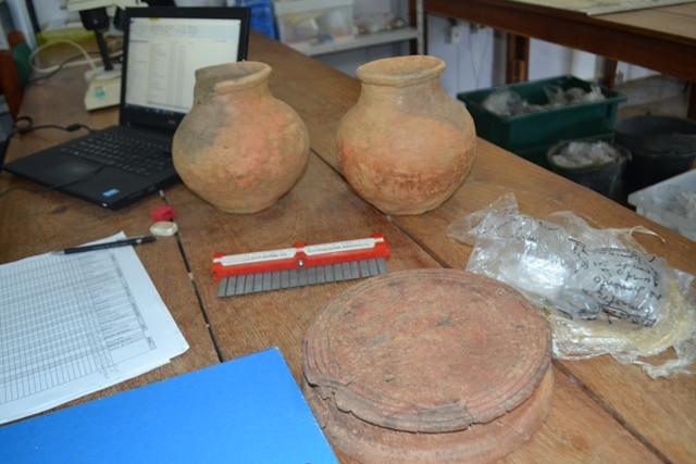 Cerâmicas de sítios arqueológicos no Curiaú