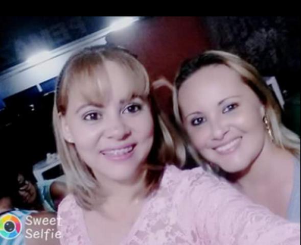 Cláudia e a irmã Ilcilene. Foto: arquivo da família