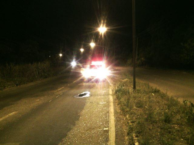 Curva de alta velocidade onde o acidente ocorreu. Fotos: Olho de Boto
