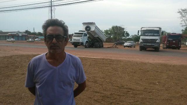 O motorista Pedro Roberto. Movimento será retomado amanhã se governo não atender motoristas.