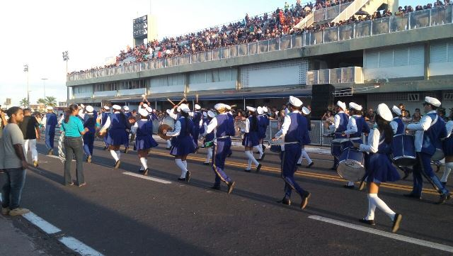 Banda da escola Lima Neto. Fotos: André Silva