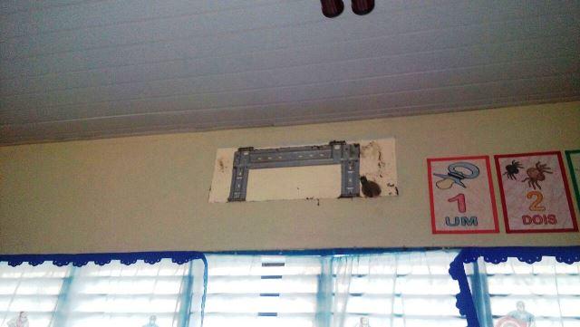 Sala de aula ficou sem uma central. Fotos: André Silva