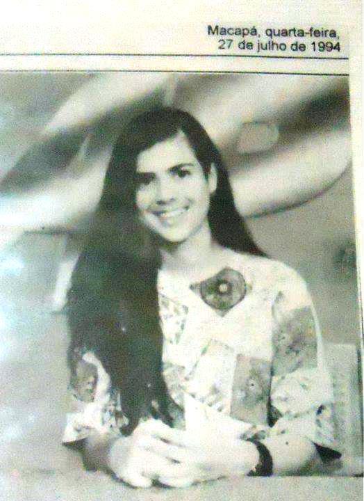 Apresentadora do Jornal do Amapá, em 1994. Fotos: Reprodução