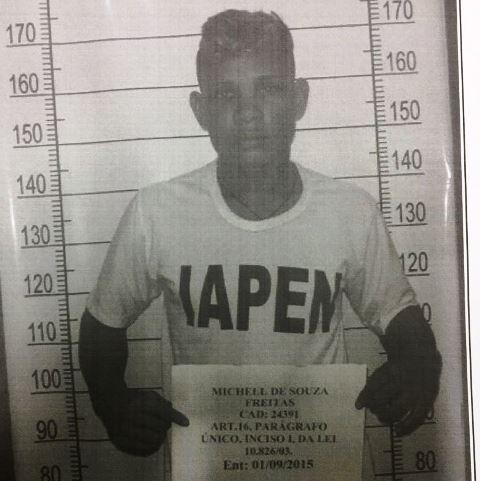 Michel de Souza: condenado a 11 anos e 4 meses. Foto: Divulgação/Iapen