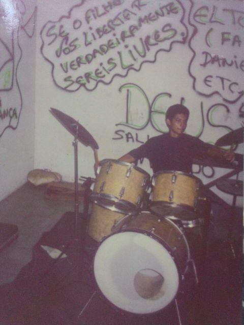 Eudes, baterista da segunda formação