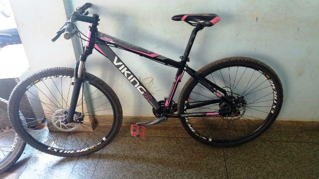 Bicicleta foi recuperada pelos policiais militares. Fotos: Rodrigo Sales