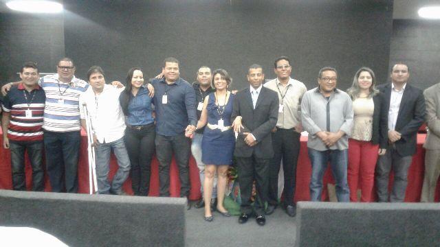 Diretores da primeira gestão do Sindojus-AP