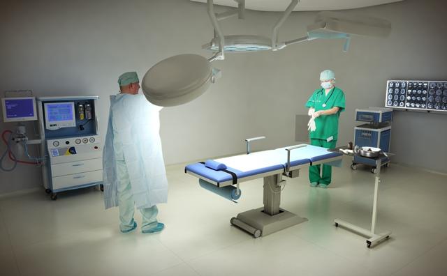 Uma das salas do centro cirúrgico