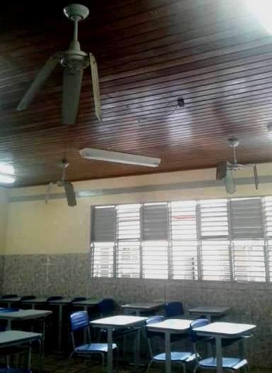 Ventiladores foram danificados pelos vândalos. Foto: Victor Ferreira - arquivo pessoal