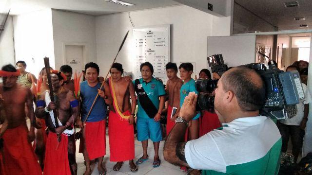 Pela manhã, índios permitiram entrada da imprensa. Foto: