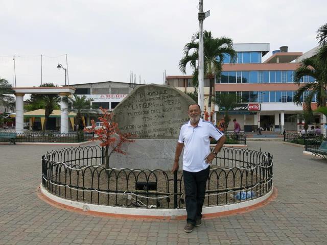 Linha do meio do mundo, no Equador