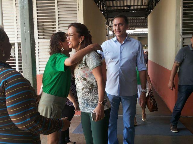 Waldez chegou acompanha de sua esposa, Marília Góes. Fotos:Cássia Lima