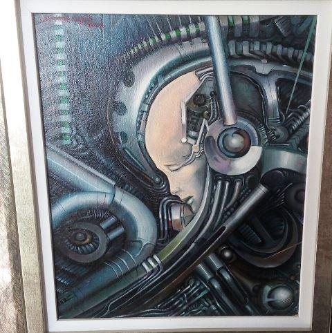 Humano e máquina são metáfora da dependência do homem da tecnologia na obra do autor