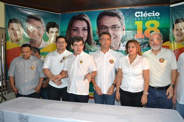 """Clécio, Davi e Randolfe: """"aliança duradoura para Macapá e o Amapá"""". Fotos: André Silva"""