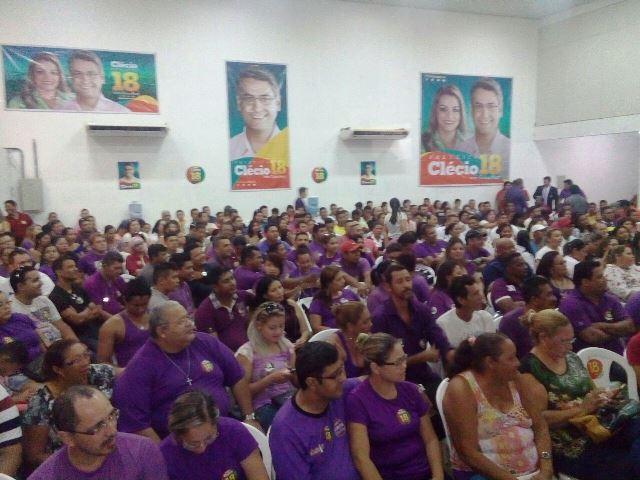 Ato de adesão atraiu dezenas de militantes