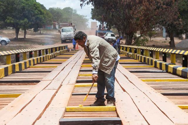 Ponte foi reconstruída ao custo de R$ 500 mil