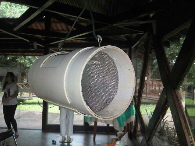 Armadilha do Mosquitend. Nome é junção de tenda e mosquito