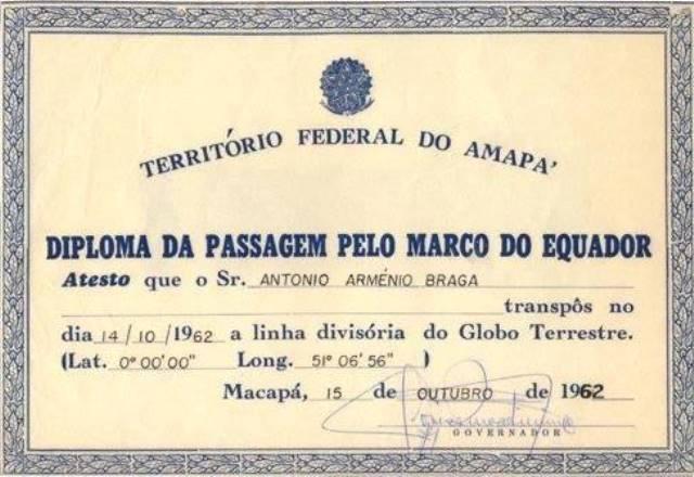 O diploma que Antônio ganhou do governador do Amapá