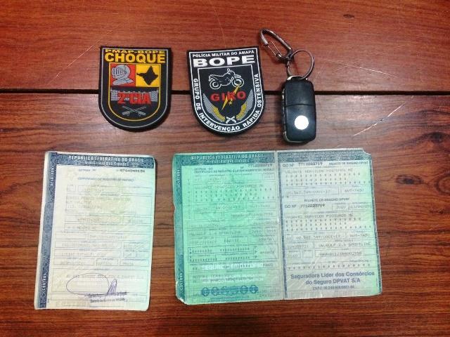 Documento foi furtado do Detran de Goiás. Foto: PM/Divulgação