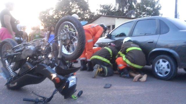Motociclista não estava habilitado. Fotos: Olho de Boto