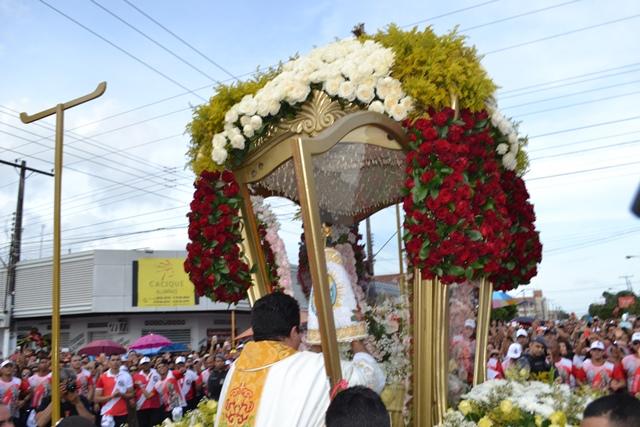 Berlinda recebeu a imagem da santa ainda no santuário de Nossa Senhora de Fátima