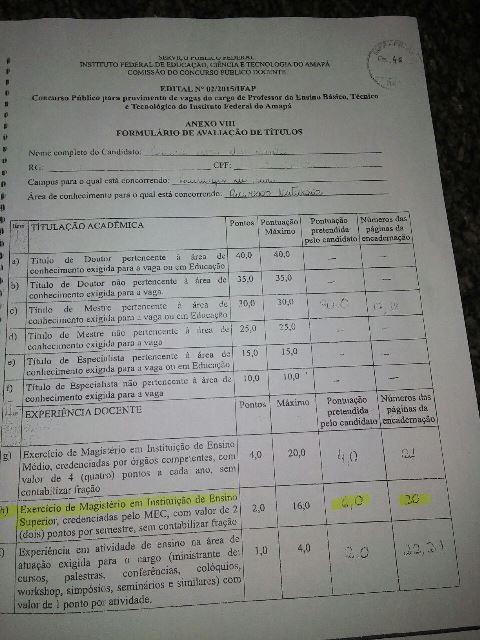 Com o documento, candidata ganhou mais 6 pontos na prova de títulos