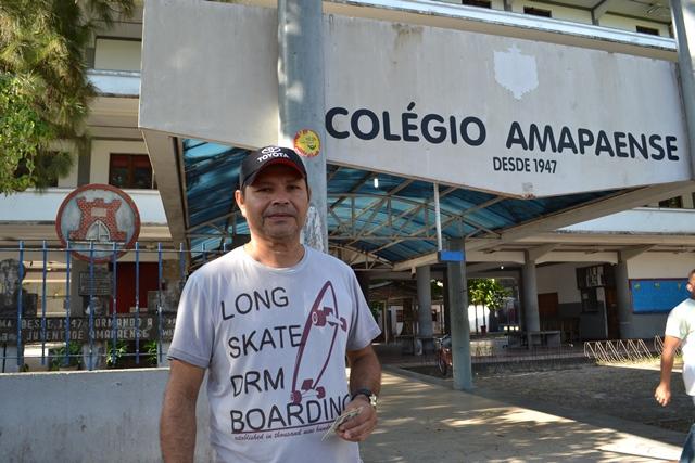 O empresário Domingos Rodrigues votou rápido. Fotos: Cássia Lima
