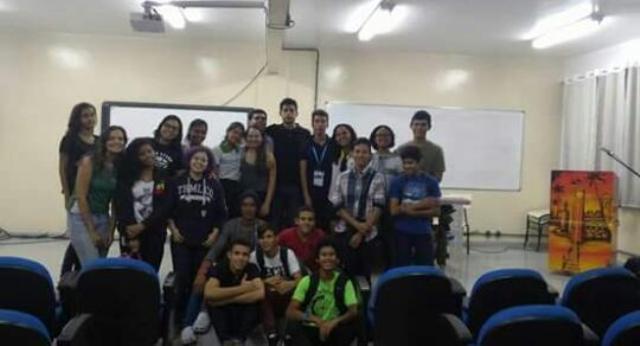 Com os amigos da Associação Juvenil de Cientistas no Amapá (Ajcap)