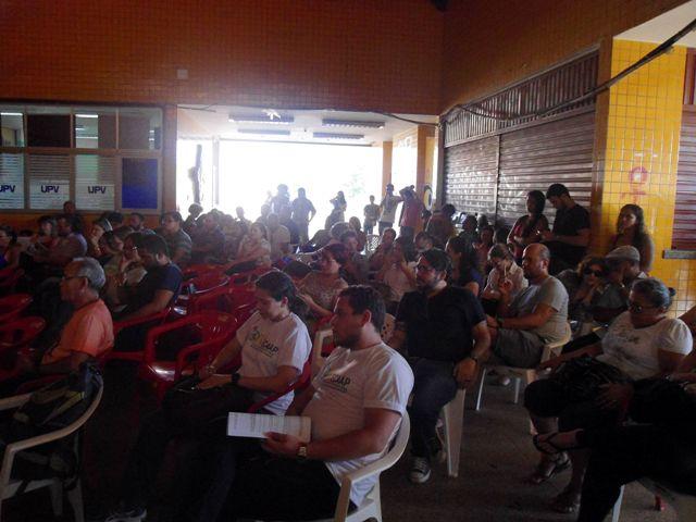 Assembleia de sexta-feira, 25, que aprovou greve. Foto: Victor Vidigal / Rádio Web Unifap
